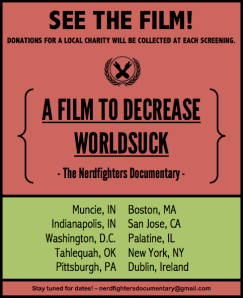 Nerdfighter screening locations