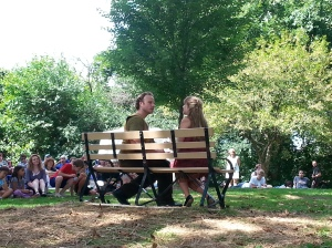 All pictures of the performance were taken at the opening performance at Frick Park by the author of this post.