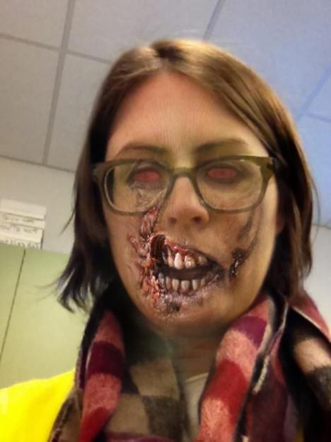 photo of the author as a zombie